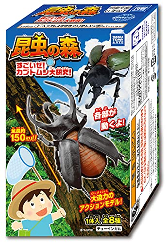 昆虫の森すごいぜ カブトムシ大研究 保障 10個入 ガム 新品■送料無料■ 食玩