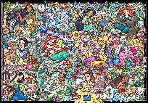 1000ピース ジグソーパズル ディズニープリンセス コレクション 51.2x73.7cm 売れ筋ランキング ステンドアート ステンドグラス 再販ご予約限定送料無料