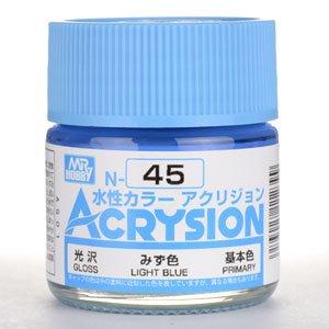 【水性アクリル樹脂塗料】新水性カラー アクリジョン みず色 N45