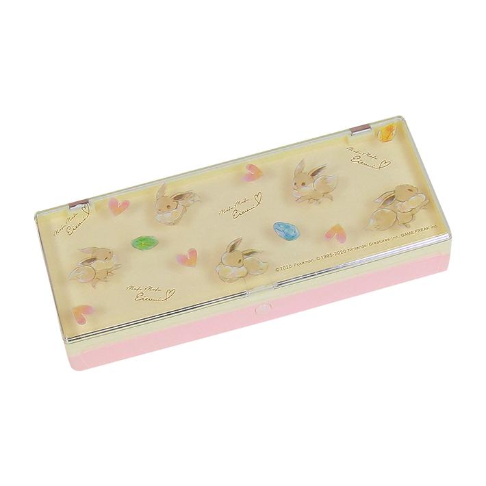 ポケモン 海外並行輸入正規品 定番から日本未入荷 プラコレ イーブイ 63599 プラスチックペンケース 筆箱 クラックス プラペン