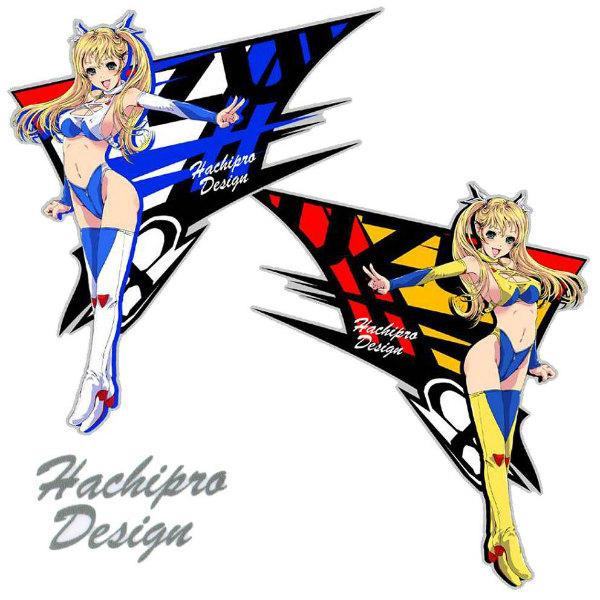 Hachipro Design ハチプロデザイン HPS-001 スズキたんマーク2 2×2サイズステッカー 左右セットバイク・車・デカール・シール・SUZUKI・鈴木 05P05Nov16