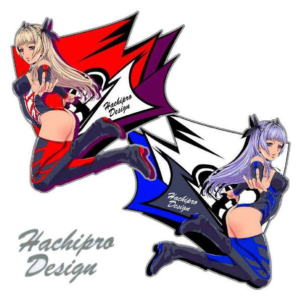 Hachipro Design ハチプロデザイン HPY-001 ヤマハたん サイド3 3×3サイズステッカー 左右セットバイク・車・デカール・シール・YAMAHA・山葉 05P05Nov16