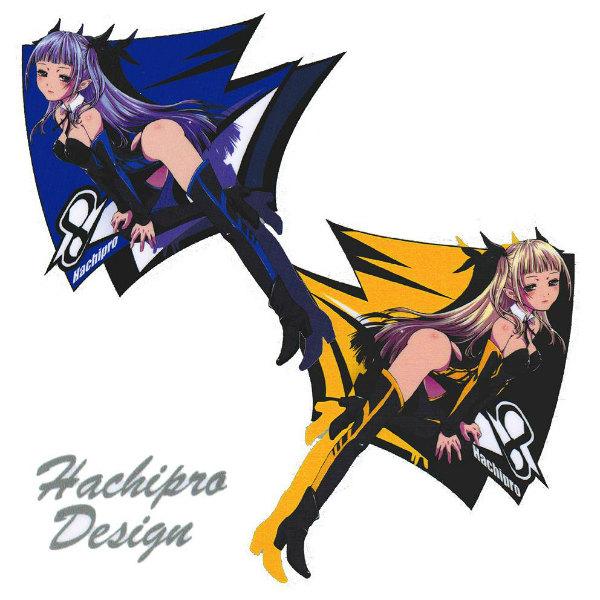 Hachipro Design ハチプロデザイン HPY-002 新☆ヤマハたん 3×3サイズステッカー 左右セットバイク・車・デカール・シール・YAMAHA・山葉