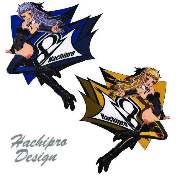 Hachipro Design ハチプロデザイン HPY-003 新☆ヤマハたん サイド2 3×3サイズステッカー 左右セットバイク・車・デカール・シール・YAMAHA・山葉 05P05Nov16