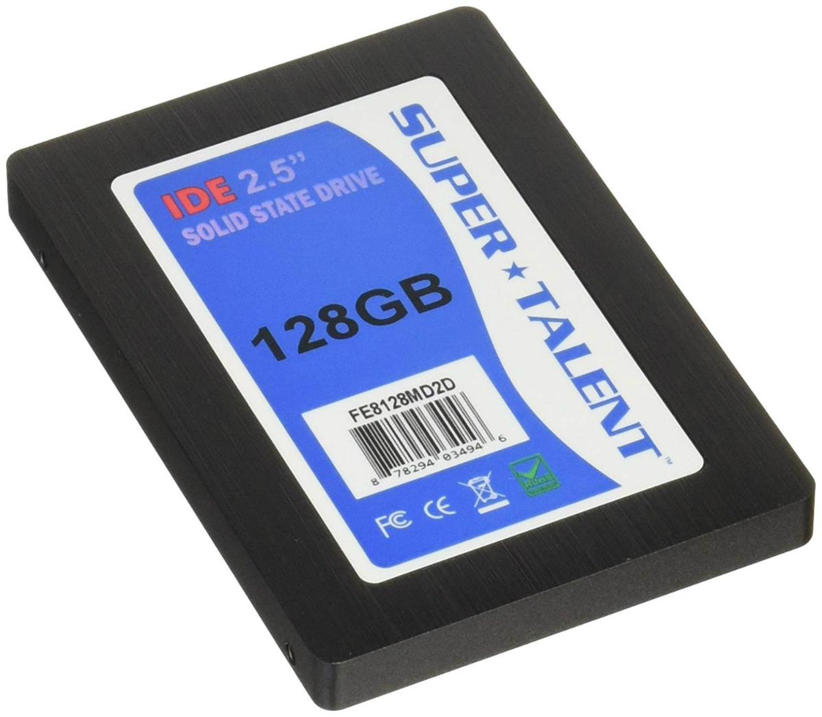 """SSD 2.5"""" IDE 128GB SUPER TALNET FE8128MD2D R:110MB/s W:95MB/s MLC  JANコード:0878294034946 1年保証"""