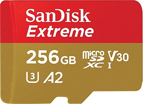 フラッシュカード Micro SD UHS1(U3) Class10 256GB SANDISK SDSQXA1-256G-GN6MA EXTREMEシリーズ R=160/W=90 A2対応 SDアダプタ付き 1年保証