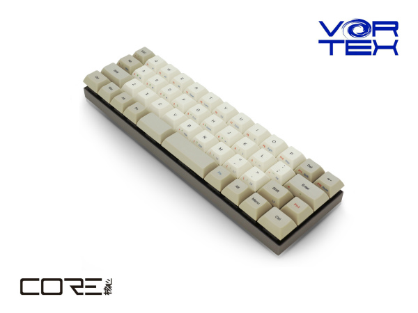キーボード メカニカル(CHERRY MX) US ASCII配列・61キー VortexGear VTG47SRDBEG 40%サイズ 英語配列47keys CHERRY MX:静音赤軸 HWマクロ機能 JANコード:4712876313103 1年(修理)保証
