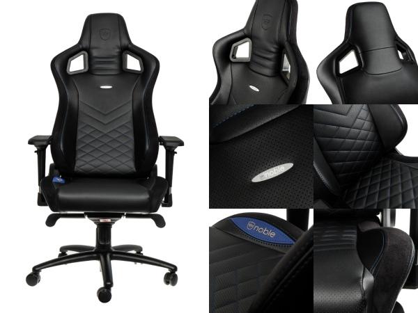 椅子 ゲーミングチェアー 合皮 Noblechairs NBL-PU-BLU-003 ゲーミングチェアー 青・黒 JANコード:4251442501174