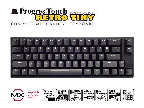 キーボード メカニカル(CHERRY MX) US ASCII配列・87キー ARCHISS AS-KBPD66/LBK ProgresTouch RetroTINY ミニキーボード 黒軸 本体:ブラック 英語配列66キー JANコード:4582353576754 1年(修理)保証