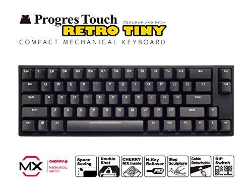 キーボード メカニカル(CHERRY MX) US ASCII配列・87キー ARCHISS AS-KBPD66/LRBK ProgresTouch RetroTINY ミニキーボード 赤軸 本体:ブラック 英語配列66キー JANコード:4582353576761 1年(修理)保証