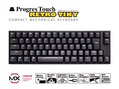 キーボード メカニカル(CHERRY MX) 日本語JIS配列・108キー ARCHISS AS-KBPD70/LRBKN ProgresTouch RetroTINY ミニキーボード 赤軸 本体:ブラック 日本語配列70キー JANコード:4582353576808 1年(修理)保証