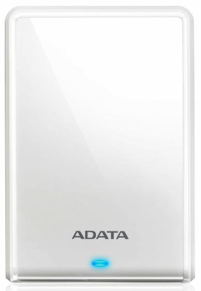 外付けHDD ポータブルHDD USB3.0&3.1 1TB ADATA AHV620S-1TU31-CWH 白 プラスティック  115x78x11.5mm 本体152g (厚さのスリム化モデル) JANコード:4710273770444 3年保証