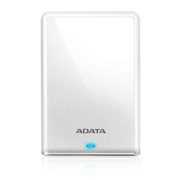 外付けHDD ポータブルHDD USB3.0&3.1 2TB ADATA AHV620S-2TU31-CWH 白 プラスティック  115x78x11.5mm 本体152g  (厚さのスリム化モデル) JANコード:4710273770468 3年保証