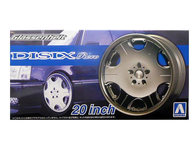 1 お洒落 24 プラモデル用アオシマ 国内送料無料 タイヤ 20インチ ホイールグラッセンハイト DISIX レボ