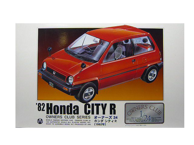 1 24 アリイ プラモデルホンダ シティ R オリジナル 1982 お気に入り