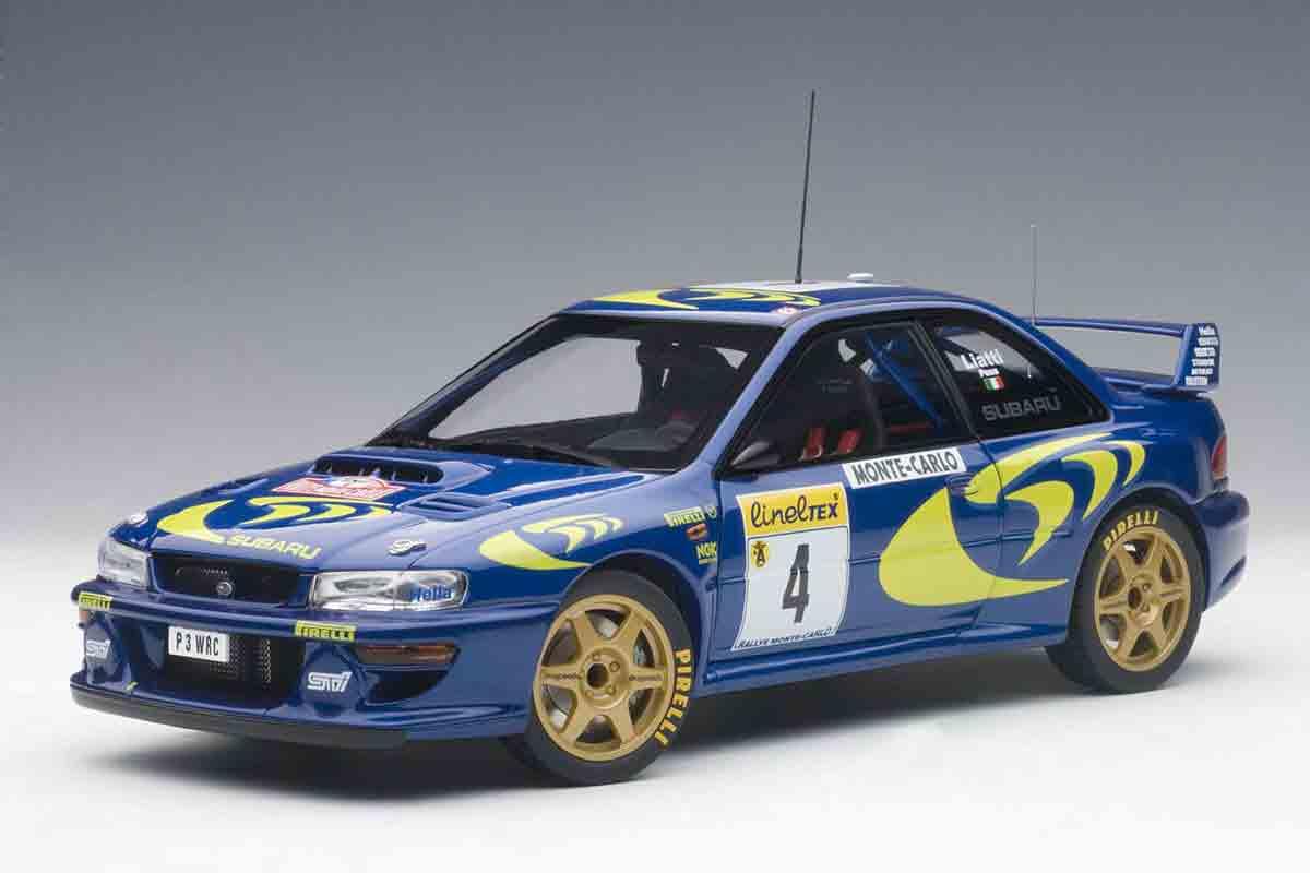 1/18 オートアートスバル インプレッサ WRC 1997 #4P.リアッティ モンテカルロWin