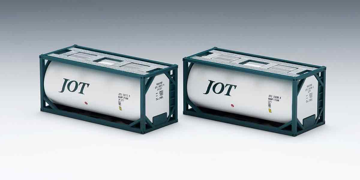 TOMIX 私有 ISO20ftタンクコンテナフレームタイプ 新作 大人気 受注生産品 日本石油輸送 2個入 グリーン