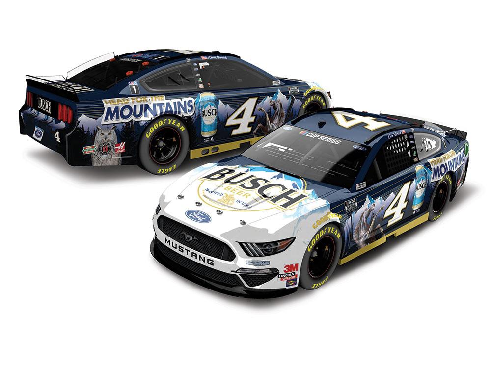 塗装済みダイキャストモデル完成品 新作送料無料 ライオネルレーシング 1 64 ケヴィン ハービック ブッシュヘッド フォー フォード 2020 マスタング NASCAR 祝日 ザ マウンテン