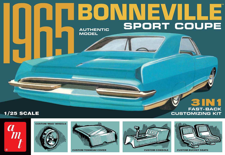 人気ブランド プラスチックモデルキット AMT 1 定番スタイル 25 1965 3in1 スポーツクーペ ボンネビル ポンティアック