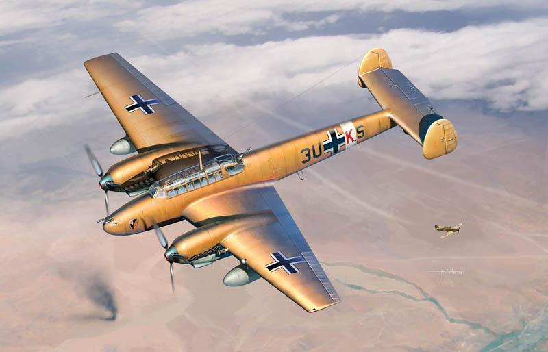 サイバーホビー 1/32 WW.II ドイツ空軍 メッサーシュミットBf110E-2 Trop (熱帯仕様)