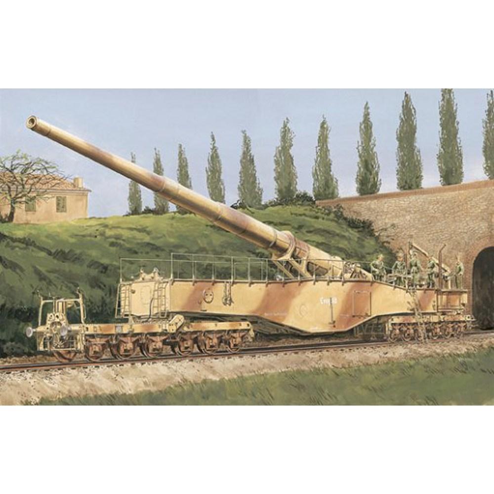 ドラゴン 1/35 WW.II ドイツ軍 28cm列車砲K5 レオポルド(訳あり商品)