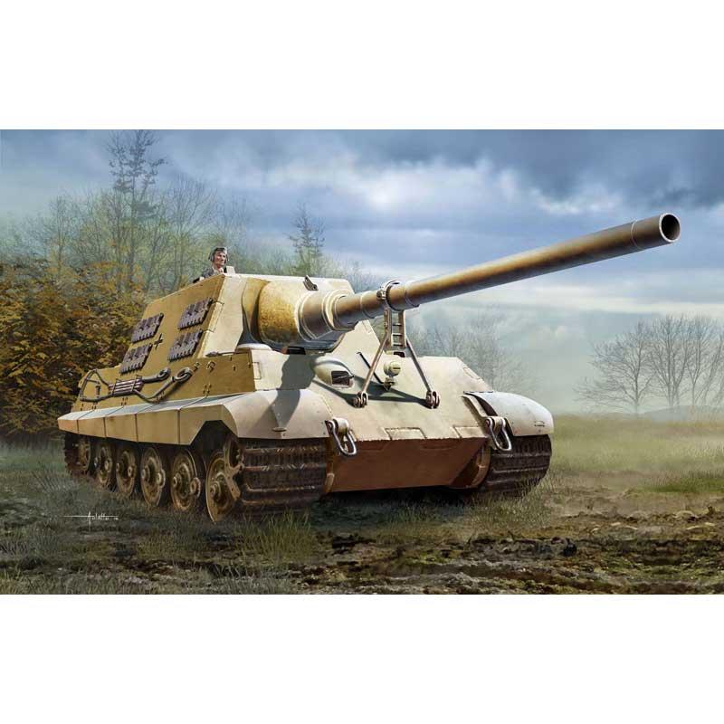 ドラゴン 1/35 WW.II ドイツ ヤークトティーガー 12.8cm PaK.80(L/66)砲搭載型