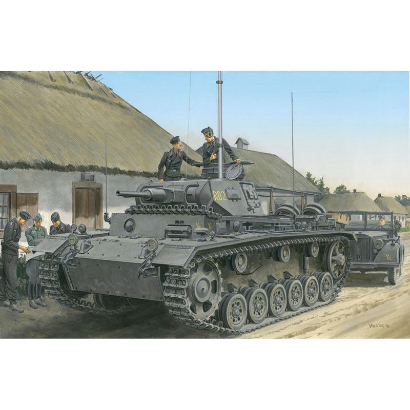 ドラゴン 1/35 WW.II ドイツ軍 III号指揮戦車H型 (スマートキット)