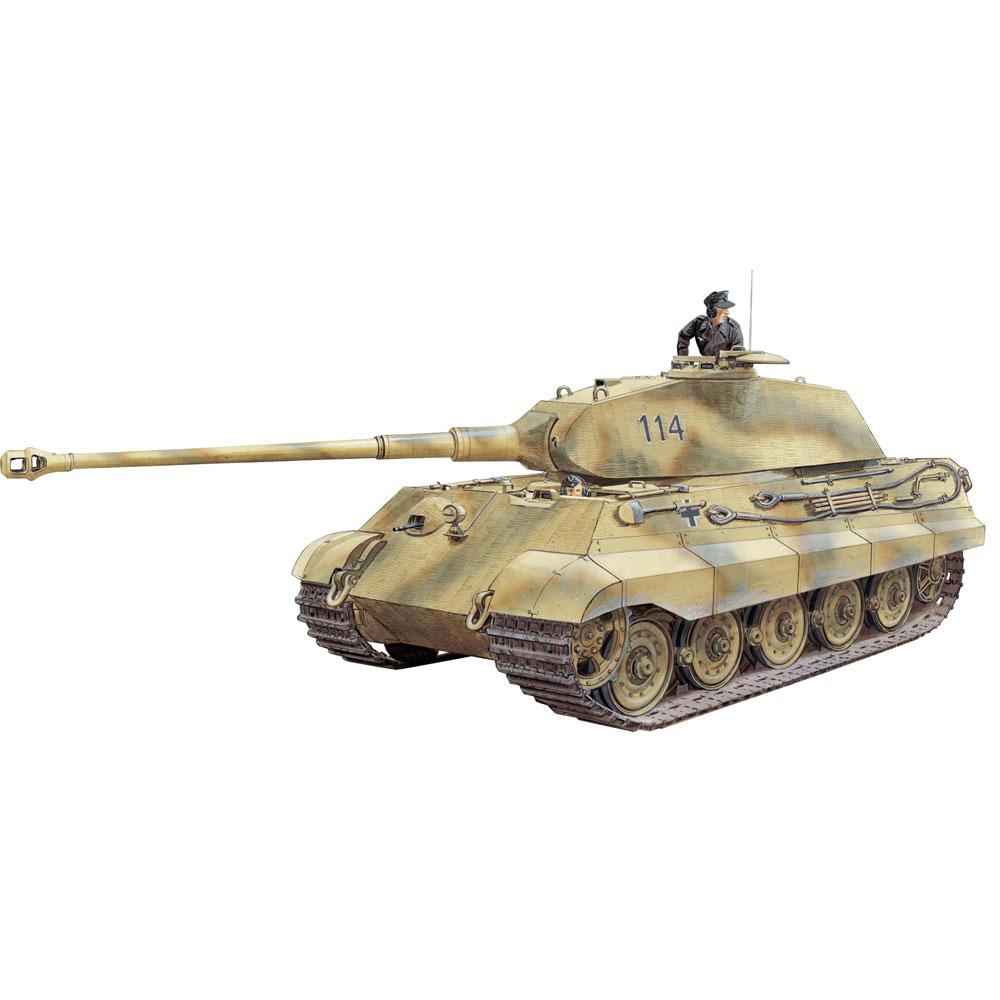 ドラゴン 1/35 WW.II ドイツ軍 Sd.Kfz.182 キングタイガー ポルシェ砲塔 w/ツィメリットコーティング