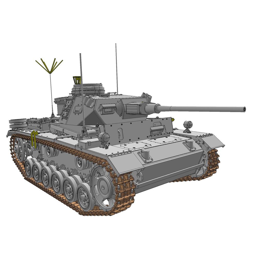 ドラゴン 1/35 WW.II ドイツ軍 III号指揮戦車K型(スマートキット)