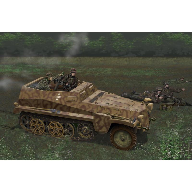 ドラゴン 1/35 WW.II ドイツ軍 Sd.Kfz.250/7 アルテ 8cm自走迫撃砲