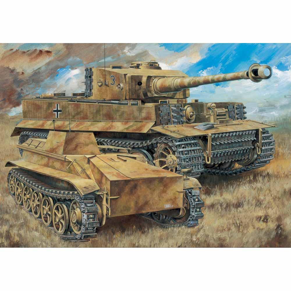 ドラゴン 1/35 WW.II ドイツ軍 ティーガーI 中期型 第508重戦車大隊C中隊 w/ツィメリットコーティング & ボルグヴァルトIV A型(訳あり商品)