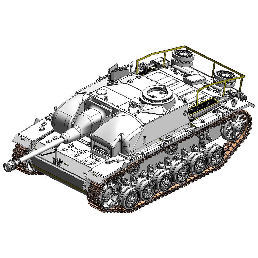 ドラゴン 1/35 WW.II ドイツIII号突撃砲G型 コンクリートアーマー w/ツィメリットコーティング