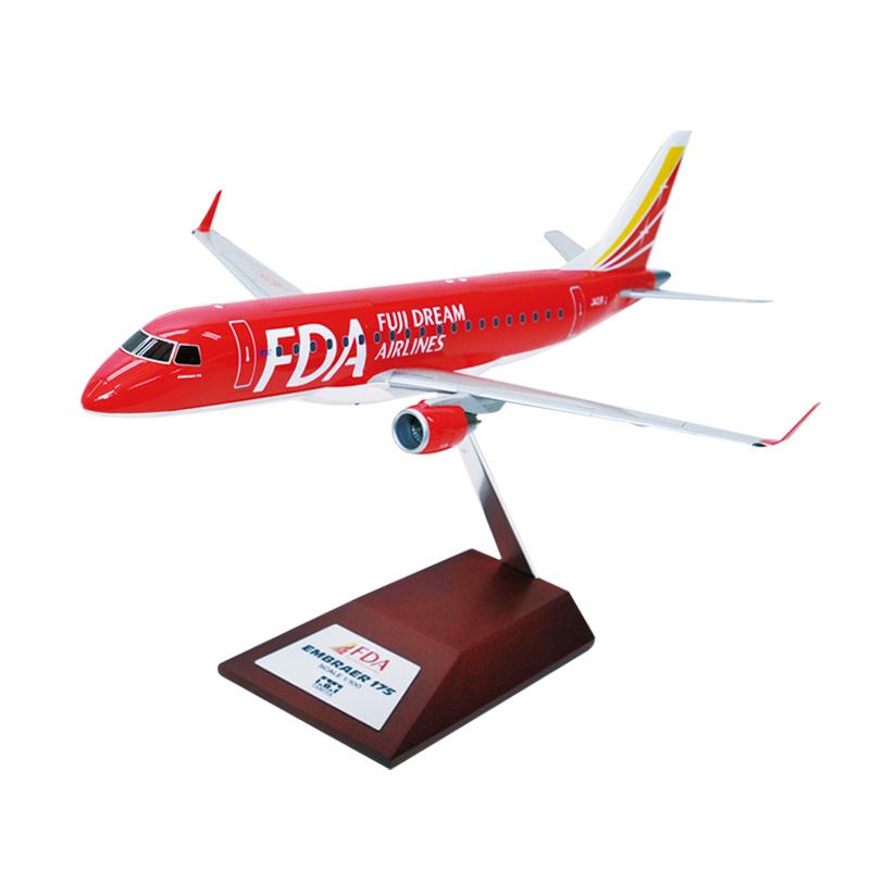 フジドリームエアラインズ/タミヤ 1/100 FDA エンブラエル 1号機 ドリームレッド 塗装済完成品