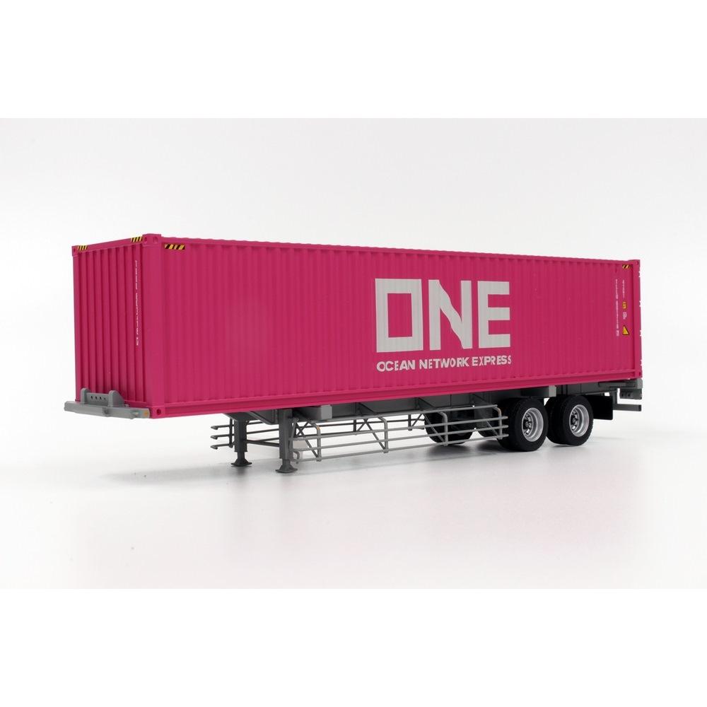 プラッツ/ケンクラフト 1/50 40フィート海上コンテナ ONE(Ocean Network Express)& 専用運搬トレーラ