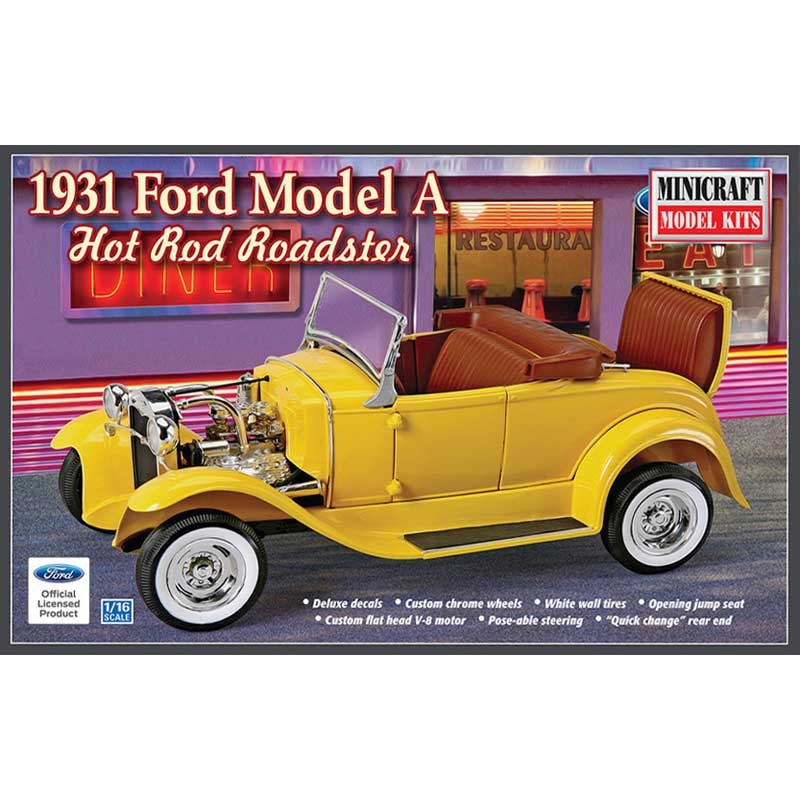 ミニクラフト 1/16 1931 フォード モデルA ホットロッド・ロードスター