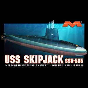 メビウスモデル 1/72 アメリカ海軍 原子力潜水艦 USS スキップジャック