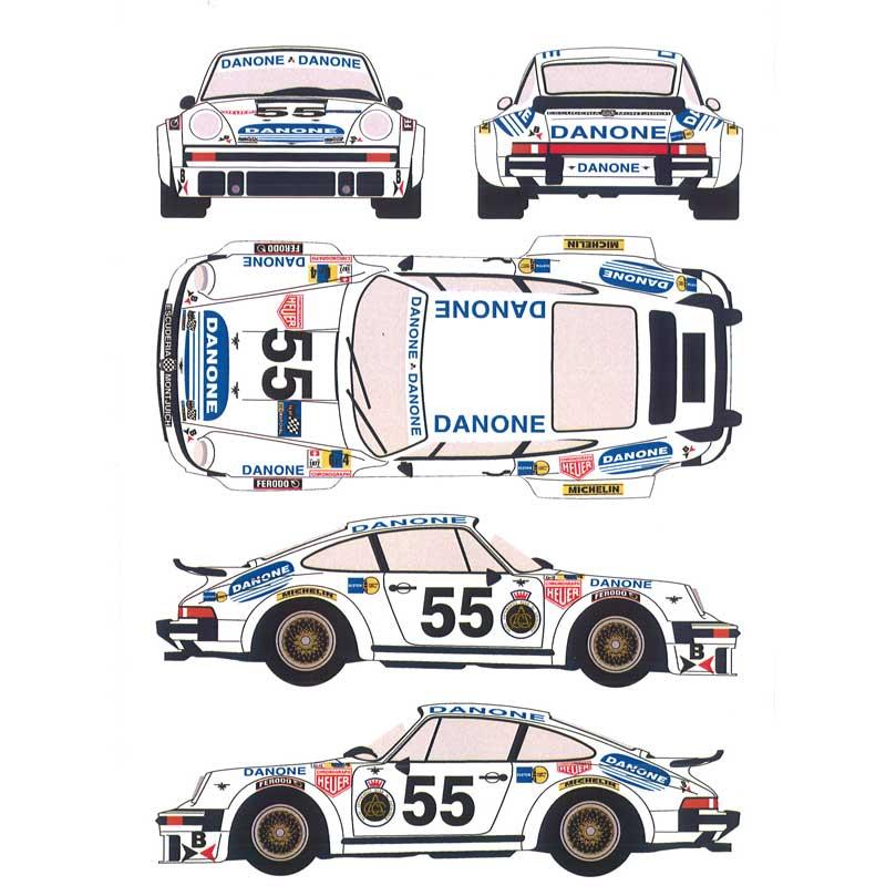 レーシングデカール43 1/24 ポルシェ934 DANONE カーNo.55 1977年 ル・マン24時間
