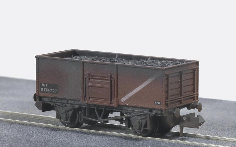 Nゲージ 塗装済車両 PECO イギリス2軸貨車 直営店 新商品 石炭運搬車 ウェザリング仕様 鋼製 錆色 BR