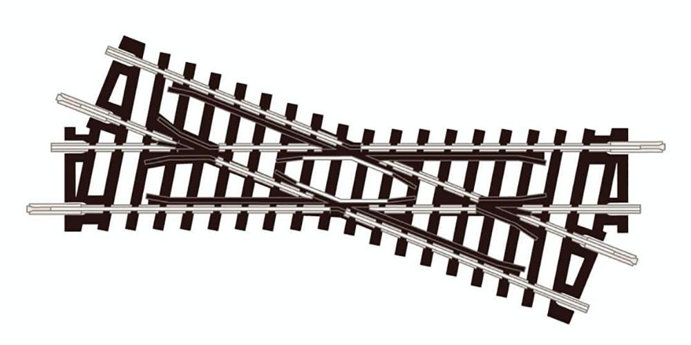 クリアランスsale!期間限定! 鉄道模型 レール PECO 超人気 N ショートクロッシング 22.5° ST51 87mm 左