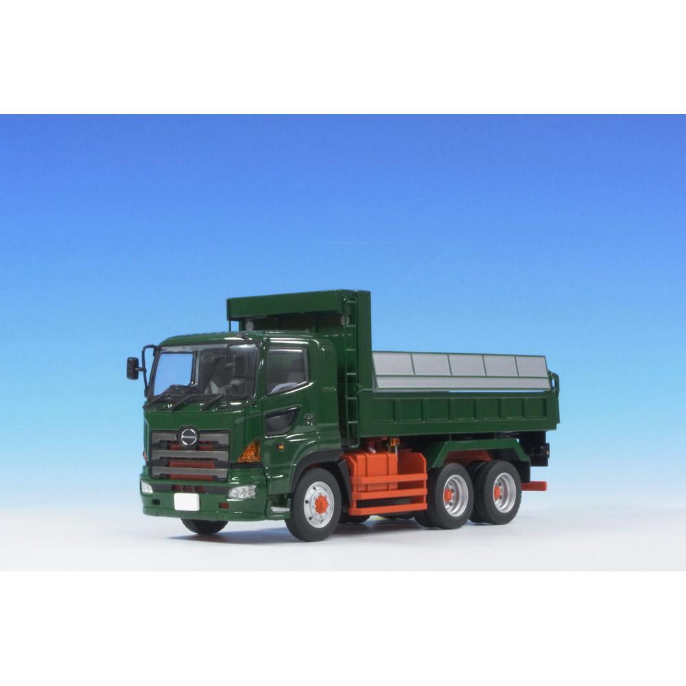 ケンクラフト 1/50 日野プロフィアFS 6x4 ダンプトラック 緑 フルキャブ 標準ルーフ(赤シャシー)