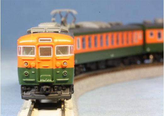 天賞堂 Zゲージ 165系 直流急行形電車 シールドビーム 低屋根 基本3輌セット
