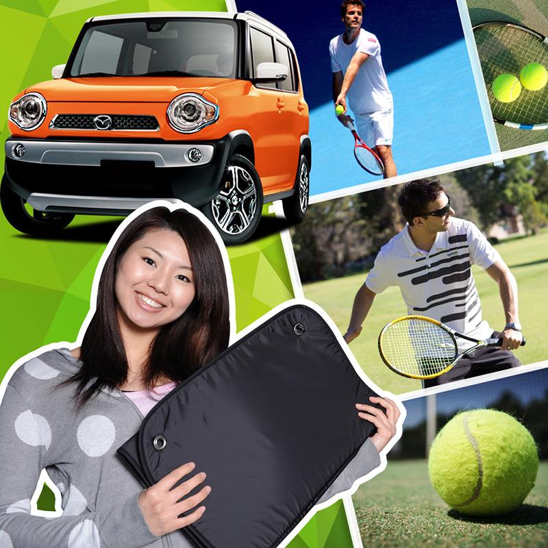 テニスで活用できる効率の良い休憩術とは!?テニスラケット テニスウェア テニスシューズ テニスボール テニスバッグ 硬式 レディース メンズ アトレーワゴン カーテン サンシェード リア用【No.1223】