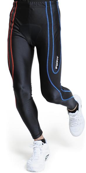 ハードな運動をささえる 強力なテーピング効果 純粋にスポーツを極めたい人におすすめのモデルです スポーツが変わる 筋肉疲労を軽減するスポーツウェアFIXFIT SPRINT+ フィックスフィット キネシオロジー No:1230N 自転車 デュアルパット付きロングタイツ 品番:ACW-X12 サポートタイツ 優先配送 話題のサポートインナー コンプレッションインナー ウェア 販売実績No.1