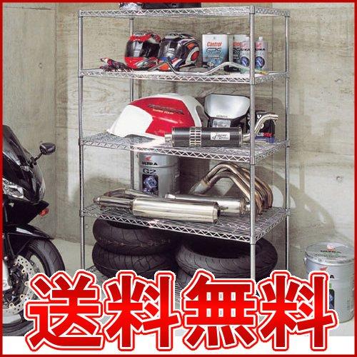[幅120×奥行61×高さ179cm]ネジやクギを使わず簡単組立て♪フィギュアなどの収納棚としてもオススメ!メタルラック MR-1218DJ[スチールラック/アイリスオーヤマ] 【在庫品】 収納ボックス 収納ケース