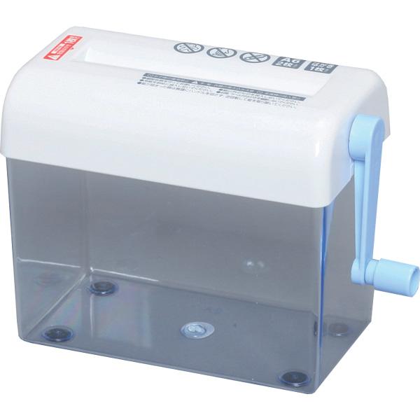 小型はがきサイズ・低価格シュレッダーハンドシュレッダー ブルー H62ST [アイリスオーヤマ・オフィス・家庭用・デスク置きタイプ・手回しシュレッダー・事務・裁断・お手ごろサイズ]  シュレッダー アイリス [cpir]