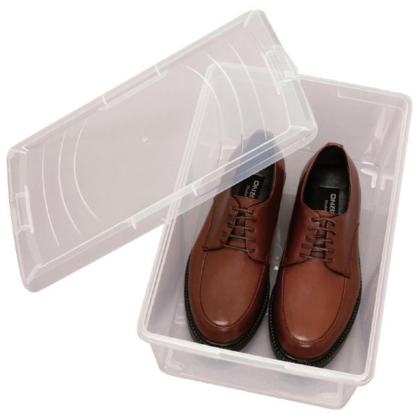[宽 26.4 x 深度 40.2 x 高度 15 厘米] 男式鞋存储: 清除鞋机架 PSK M3P [鞋和放鞋架上和鞋 / 鞋箱 / 一些盒 / 鞋子收纳盒 / 铃木每 / 鞋存储 / 爱丽思] f