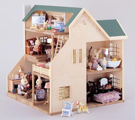 漂亮的房子为森林家族绿色山丘房子系列或时代]