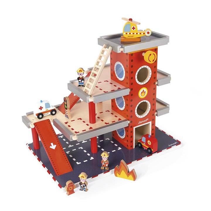 ストーリービルダー ファイアーステーション TYJD05717送料無料 ベビー玩具 おもちゃ 遊び ベビー ダッドウェイ だっどうぇい ベビー用品 赤ちゃん マタニティ Janod 【D】