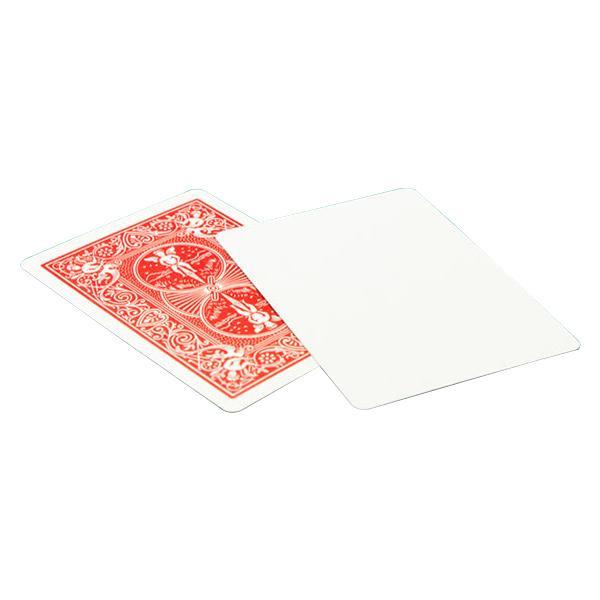 バイスクルマジックカード ブランクフェイス赤 PCM07 超安い マジック 手品 通信販売 AB