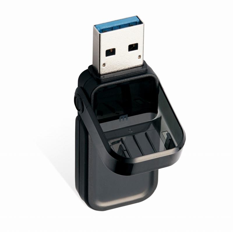 【ELECOM(エレコム)】USBメモリ 3.0 128GB USB3.1 ( Gen1 ) フリップキャップ式 ブラック[▲][EL]